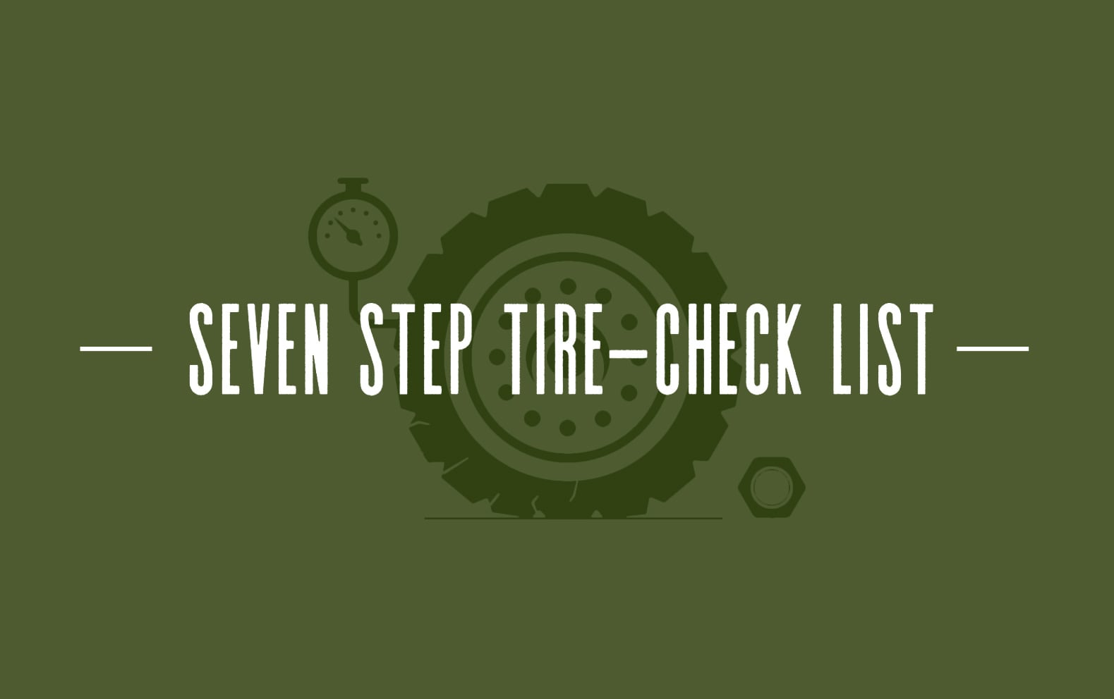 7-STEP TIRE CHECK